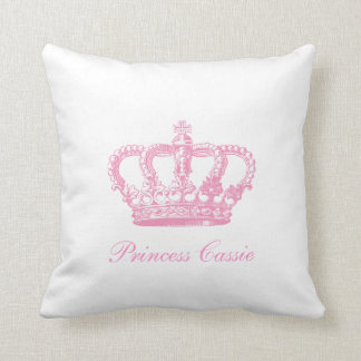 Corona rosada cojín