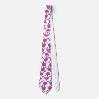 corona rosada de la princesa corbata personalizada