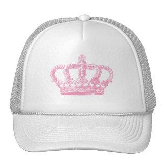 Corona rosada gorros bordados