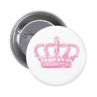 Corona rosada pin redondo 5 cm