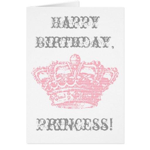 Corona rosada tarjeta de felicitación
