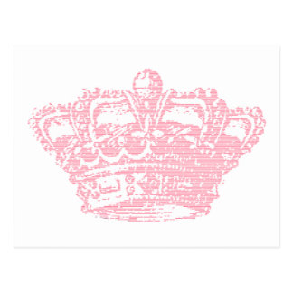 Corona rosada postal