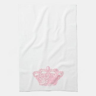 Corona rosada toallas