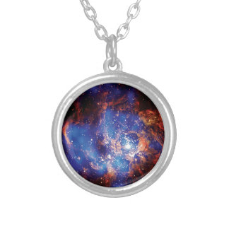 Corona Star Cluster Silver Plated Necklace