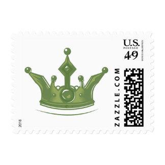 Corona verde sellos postales