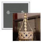 Corona votiva de rey Recesvinth Pin Cuadrado