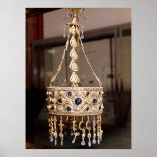 Corona votiva de rey Recesvinth Póster