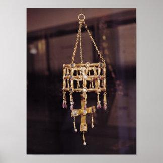 Corona votiva de un rey de Visigoth Póster
