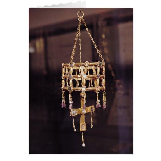 Corona votiva de un rey de Visigoth Tarjetón