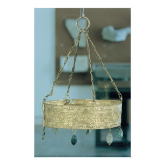 Corona votiva del tesoro de Guarrazar Póster