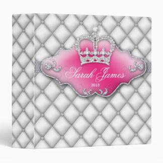 """Corona W del dulce 16 de los diamantes de la carte Carpeta 1 1/2"""""""