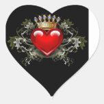 Corona y corazón colcomanias corazon personalizadas