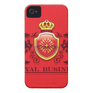 Corona y escudo de oro del escudo de armas con los carcasa para iPhone 4