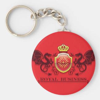 Corona y escudo de oro del escudo de armas con los llavero redondo tipo pin