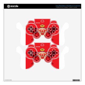 Corona y escudo de oro del escudo de armas con los mando PS3 skins