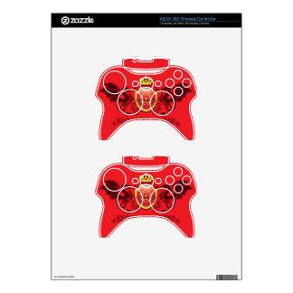 Corona y escudo de oro del escudo de armas con los mando xbox 360 skin