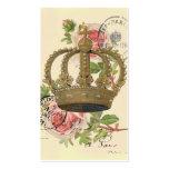 Corona y rosas plantillas de tarjetas personales