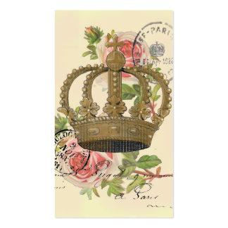 Corona y rosas tarjetas de visita