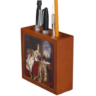 Coronación de la pintura de la reina Victoria Organizador De Escritorio