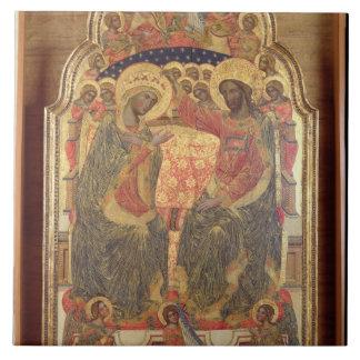 Coronación de la Virgen, 1372 Azulejo Cuadrado Grande
