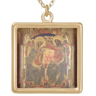 Coronación de la Virgen, 1372 Colgante Cuadrado