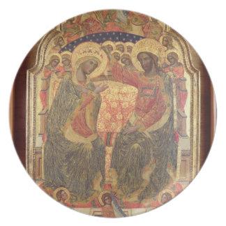 Coronación de la Virgen, 1372 Platos