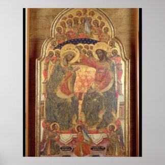 Coronación de la Virgen, 1372 Póster