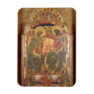 Coronación de la Virgen, 1372 Rectangle Magnet