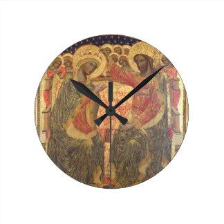 Coronación de la Virgen, 1372 Reloj Redondo Mediano