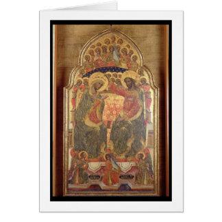 Coronación de la Virgen, 1372 Tarjeta De Felicitación