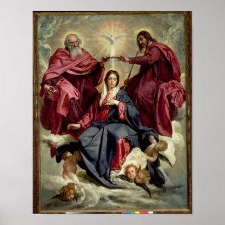 Coronación de la Virgen, c.1641-42 Póster