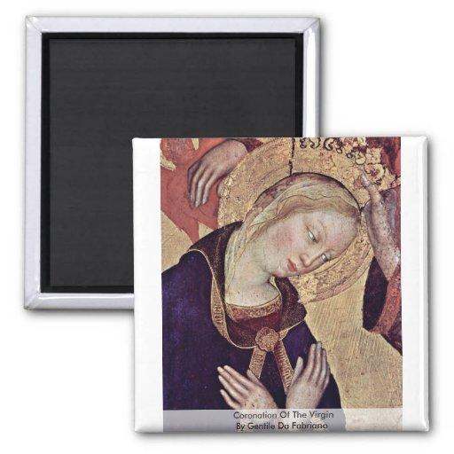 Coronación de la Virgen de Gentile da Fabriano Imán Cuadrado