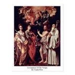 Coronación de la Virgen de Guido Reni Postales