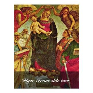 """Coronación de la Virgen de Signorelli Luca (mejor Folleto 8.5"""" X 11"""""""