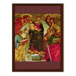 Coronación de la Virgen de Signorelli Luca (mejor Tarjeta Postal