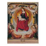 Coronación de la Virgen, panel central Postal