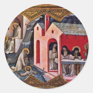 Coronación de la Virgen Pegatinas Redondas