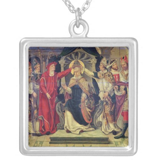 Coronación de papa Celestino V en agosto de 1294 Colgante Cuadrado