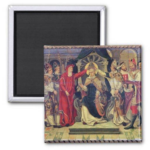 Coronación de papa Celestino V en agosto de 1294 Imán Cuadrado