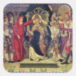 Coronación de papa Celestino V en agosto de 1294 Pegatina Cuadrada