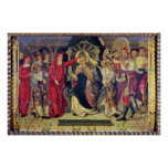 Coronación de papa Celestino V en agosto de 1294 Póster