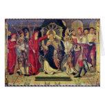 Coronación de papa Celestino V en agosto de 1294 Tarjeta De Felicitación