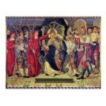 Coronación de papa Celestino V en agosto de 1294 Tarjeta Postal