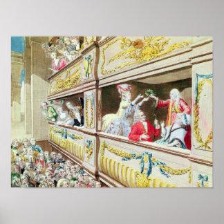 Coronación de Voltaire en el teatro Francais Póster
