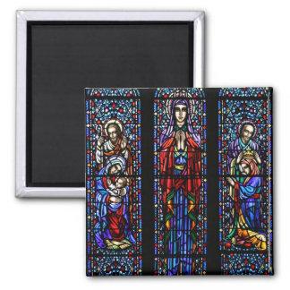 Coronación del arte del vitral de Maria Imán Para Frigorifico