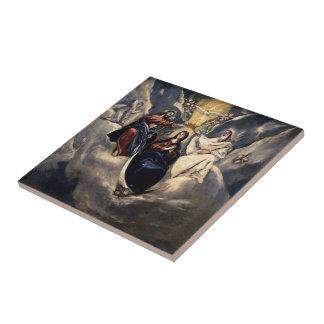 Coronación del EL Greco- de la Virgen Azulejos Ceramicos