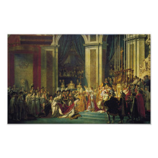 Coronación del poster de Napoleon