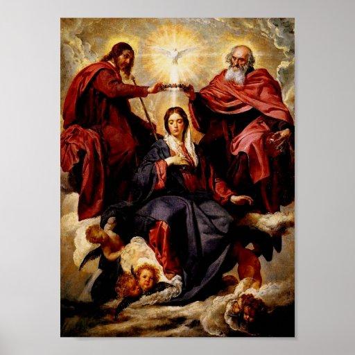 Coronación del poster del Virgen María