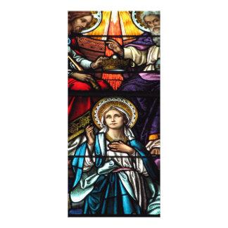 Coronación del vitral bendecido del Virgen María Tarjetas Publicitarias