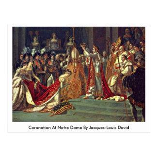 Coronación en Notre Dame de Jacques-Louis David Postales